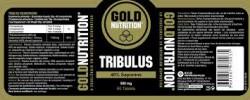 Etiqueta original da embalagem de Tribulus Goldnutrition 550 mg