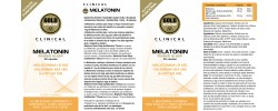 Etiqueta original da embalagem de Melatonina GoldNutrition Clinical
