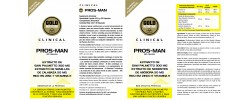 Etiqueta original da embalagem de Pros Man (Prostata) GoldNutrition Clinical
