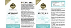 Etiqueta original da embalagem de Ultra DHA GoldNutrition Clinical