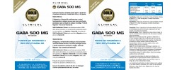 Etiqueta original da embalagem de Gaba GoldNutrition Clinical
