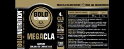 Etiqueta original da embalagem de Mega CLA Goldnutrition 1000mg