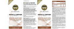 Etiqueta original da embalagem de Muscle Repair GoldNutrition Clinical